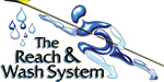 Picture of the Reach and Wash Logo - we are a fully qualified user of this brandnew technology and are qualified to use the long pole water feeding system